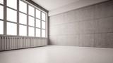 Leeer Raum mit Wand aus Beton