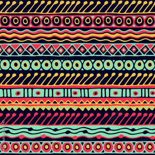 Materiał do szycia Wzór bezszwowe etniczne. Styl Boho. Etniczne tapeta. Sztuki plemiennej wydruku. Stary tekstura tło Abstrakcja granic