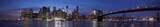 New York city skyline with Brooklyn bridge panorama at dusk, natural colors