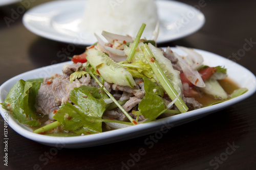 Poster Spicy Thai Beef Salad