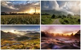 collage of photos of Italian landscapes at sunset