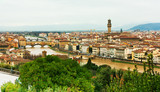 View from above of Firenze ,river and bridges