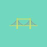 metal cable suspension bridge, modern bridge