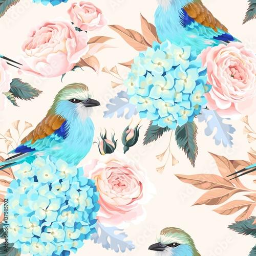 Seamless vintage flowers - 137505702