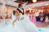 Happy bride and groom their first dance - 137506775