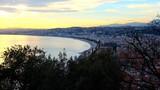 Sunset landscape in Nice city, France