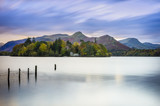 Derwent water in the District Lake amazing landscape