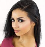 Beautiful face of multi racial woman