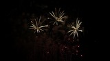 Great show of fireworks in the sky