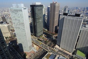 副都心新宿の高層ビル群