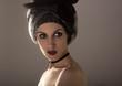 Девушка модель красивой европейской внешности красота уход за телом мода