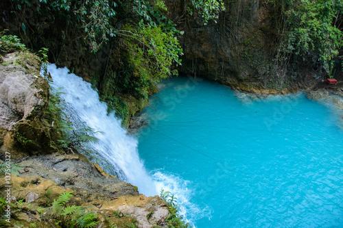 Fotobehang Bamboe Kawasan Falls on Cebu island in Philippines