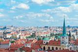 The aerial view of Prague City Czech Republic