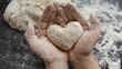 Leinwanddruck Bild - Backen mit Liebe