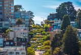 Famous Lombard Street in San Francisco, California