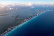 Cancun aerial view panorama landscape