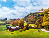 Farm in the Countryside with fall leaves