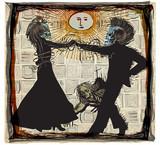 noon dancers, voodoo night - an hand drawn vector - 137595575