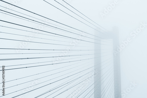 Abstract architectural composition in light tones - 137604912