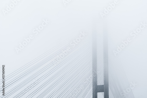 Abstract architectural composition in light tones - 137604942