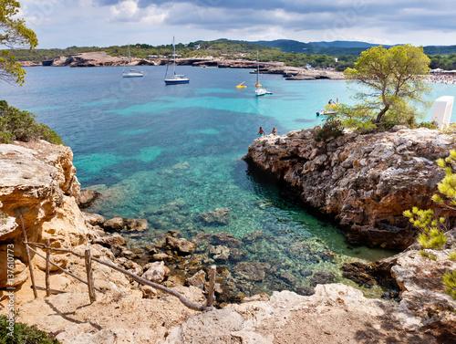 Beautiful lagoon at Ibiza