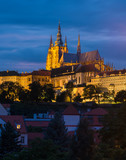 Prague castle on sunset