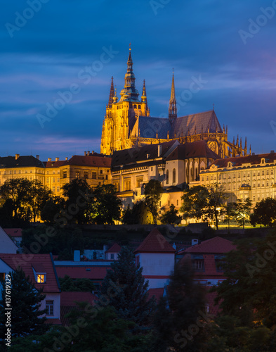 Poster Prague castle on sunset