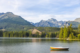 Mountain lake Strbske pleso, High Tatras, Slovakia