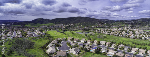 Aerial view of San Marcos, California in North County San Diego, California, USA.