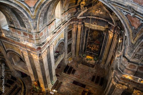Tuinposter Olijfboom Inside view of Estrela Basilica in Lisbon, Portugal