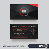 business card design layout template with modern pattern,Vector illustration