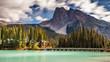 Scenic Emerald Lake in Yoho National Park, British Columbia, Canada