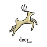 Deer Leaping Logo