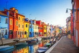 Kolorowe domy w Burano, Wenecja, Włochy