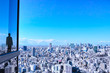 東京の風景とビジネスマン