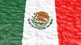 Computer abstract motion background flag of Mexico