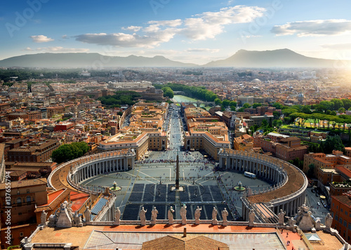 Aerial view on Vatican