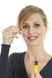 Woman taking Bach Flower Remedies