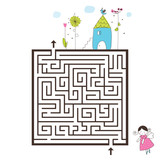 Labyrinth game image. Help find way home.