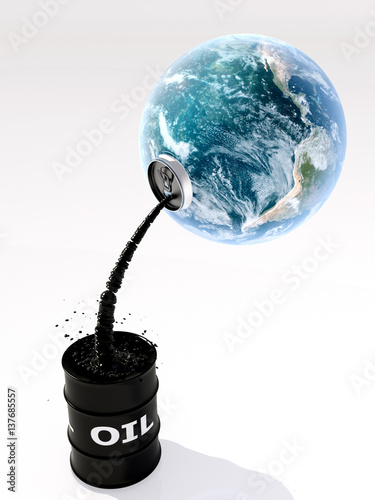 Staande foto Wereldkaart Planet and oil.