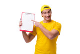 Delivery guy isolated on the white background