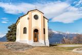 San Rocco Church in Campagnano, Maccagno with Pino and Veddasca, Luino, Italy