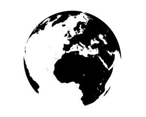 vettoriale mondo nero