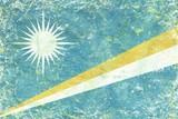 Grunge Marshall Islands flag texture