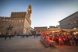 Italia,Toscana,Firenze,piazza della Signoria e Palazzo Vecchio