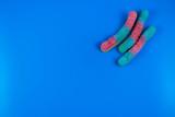 gummi worms in a pop art style