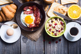 Breakfast with eggs - 137715752