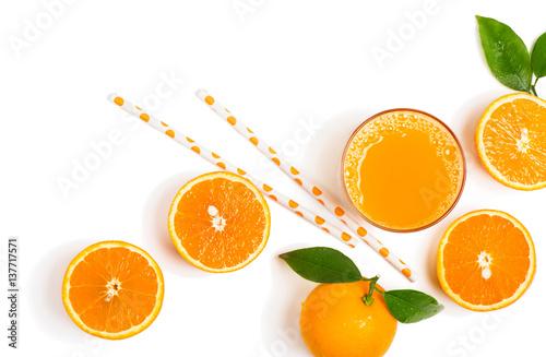 Fototapeta Fresh orange juice just squeezed.