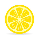 Lemon slice vector icon