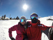 Skiers couple at winter holiday